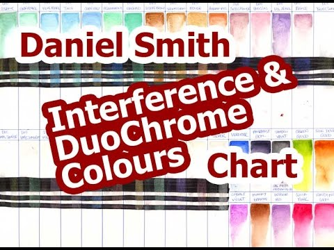Daniel Smith Duochrome Interference Colour Chart Youtube