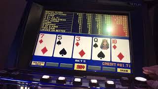video poker play at oregon casino !!