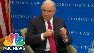 Jeff Sessions Defends Donald Trump, Says NFL Players 'Can Expect To Be Condemned' | NBC News Free HD Video