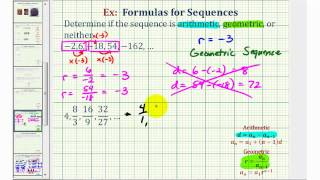 Ex: Determine If A Sequence Is Arithmetic Or Geometric (geometric)