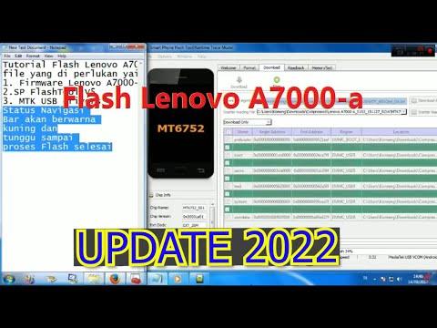 Flashing Lenovo A7000 A 100 Work