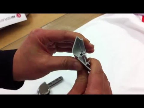How to assemble spring clip to snap frame extrusion
