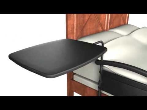 Vida abuelo barandal de seguridad para cama con mesa - Mesa para la cama ikea ...