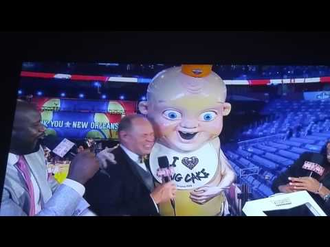 King cake baby on inside the nba