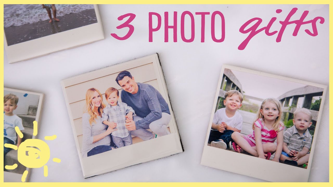 DIY | 3 Easy Photo Gifts (Great for Grandparents!!) - YouTube