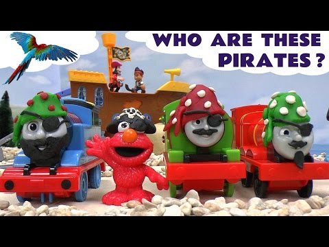 Thomas and Friends Play Doh Pirate Toy Trains Sesame Street Elmo Cookie Monster Disney Jake Pirates