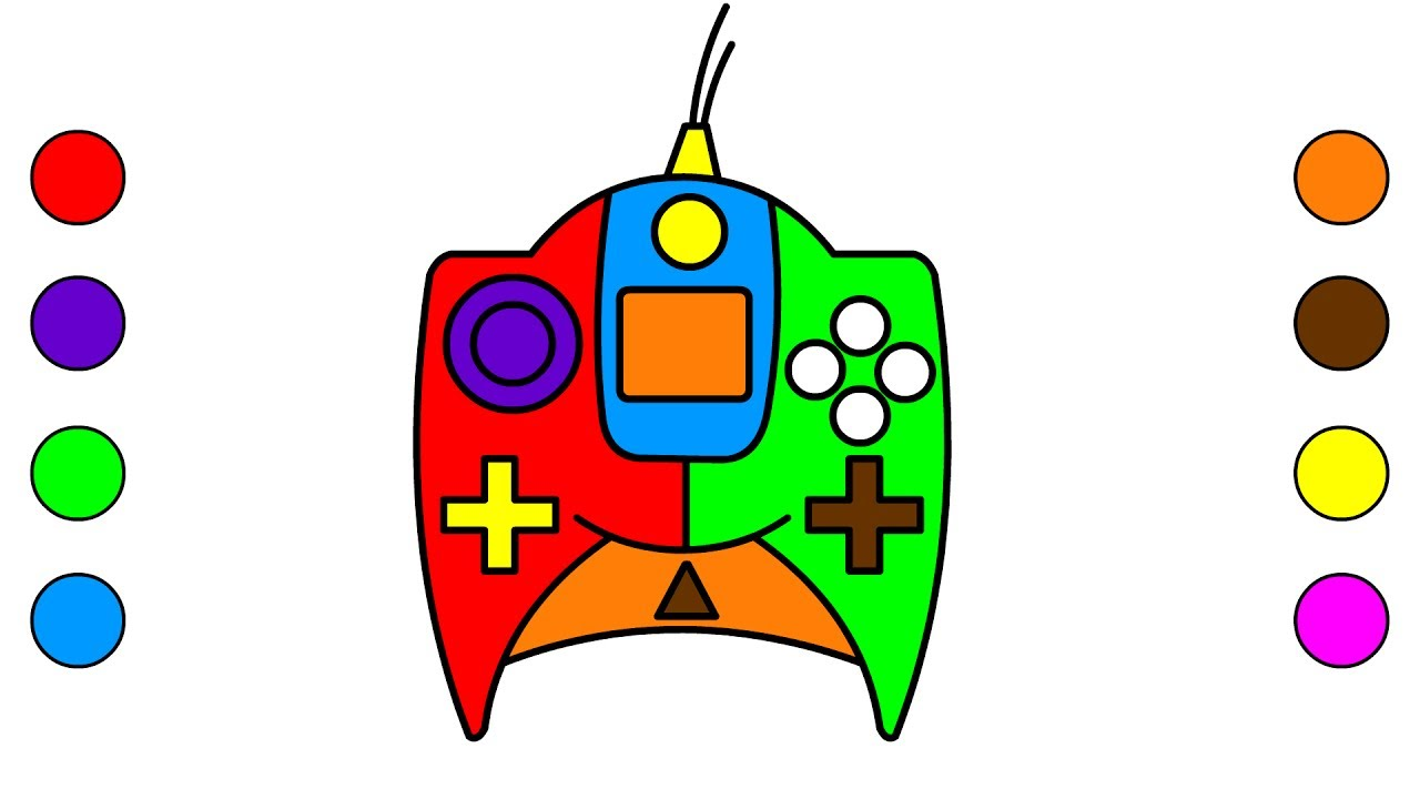 Coloring Pages Game Pad Toys