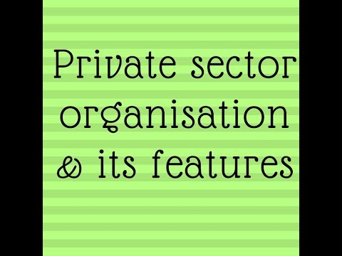private sector organisation in Hindi
