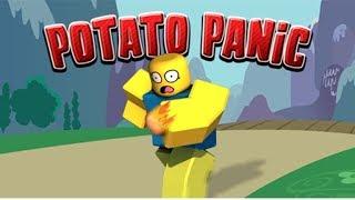ROBLOX-WHOEVER GETS the POTATO LAST EXPLODES!!! (Potato Panic! [Minigame])