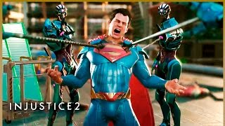 INJUSTICE 2 ALL SUPER MOVES (Joker, Darkseid, Braniac, Flash, Bane, Catwoman) - All Characters