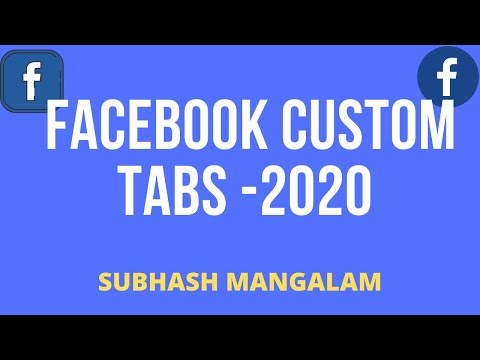 How To Add Custom Tab In Facebook Business Page 2020 | YouTube Tab | Twitter Tab | Pinterest Tab