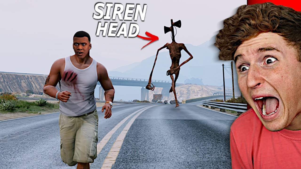 Download SIREN HEAD CHASES ME In GTA 5.. (TERRIFYING)