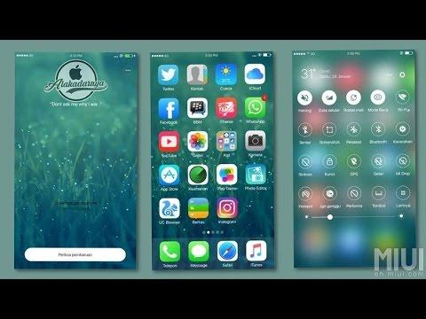iOS Theme Alakadarnya for MIUI 8 with Custom Font | Redmi Note 4, Redmi 4A