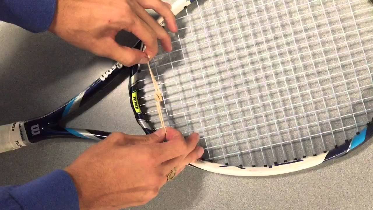 How to tie an elastic band