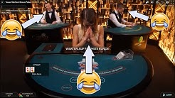 Vagina plays Live Casino - Live Dealer trolling - Prank