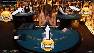 Vagina plays Live Casino - Live Dealer trolling - Prank