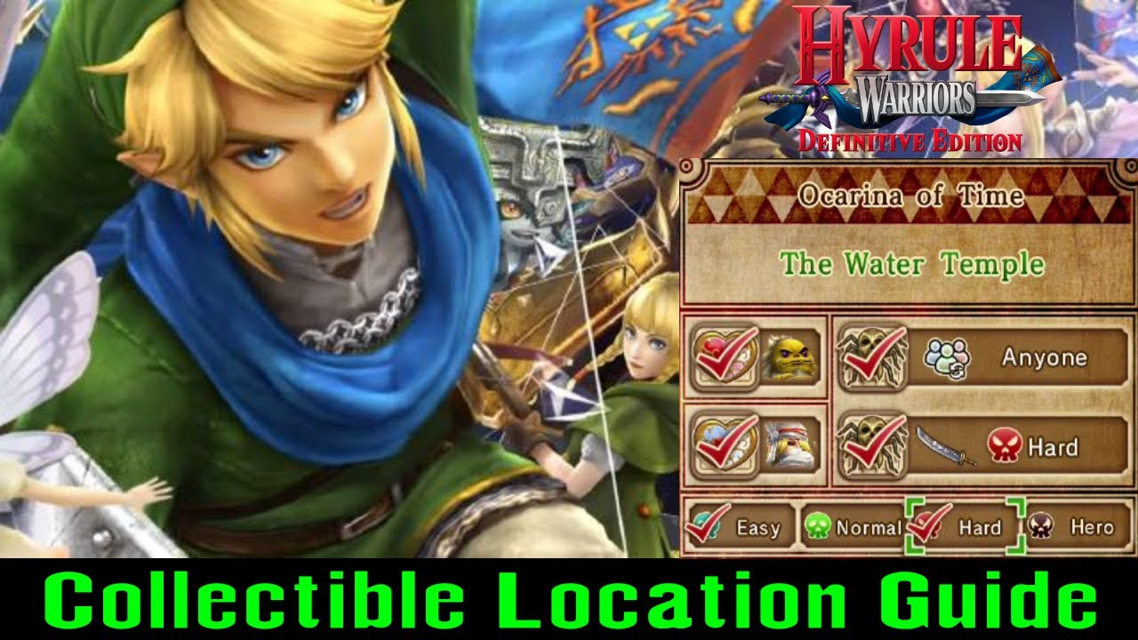 The Water Temple Collectible Guide Hyrule Warriors Switch 2018 Youtube