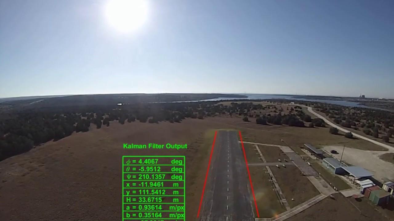 3D Vision based model for runway tracking using Kalman Filter Video 1