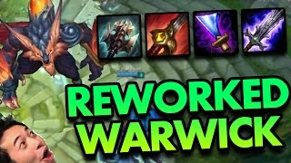 FULL ON HIT REWORKED WARWICK - PBE League of Legends With Friends