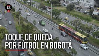 Por final de fútbol colombiano: ley seca, toque de queda y cierre de Transmilenio en Bogotá