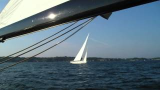 Newport 12 Meter Sail Nefertiti Jul 30, 2015 HD 1080p