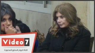 بالفيديو.. ميرفت أمين وبوسى شلبى ومها أبو عوف فى عزاء الفنانة فيروز