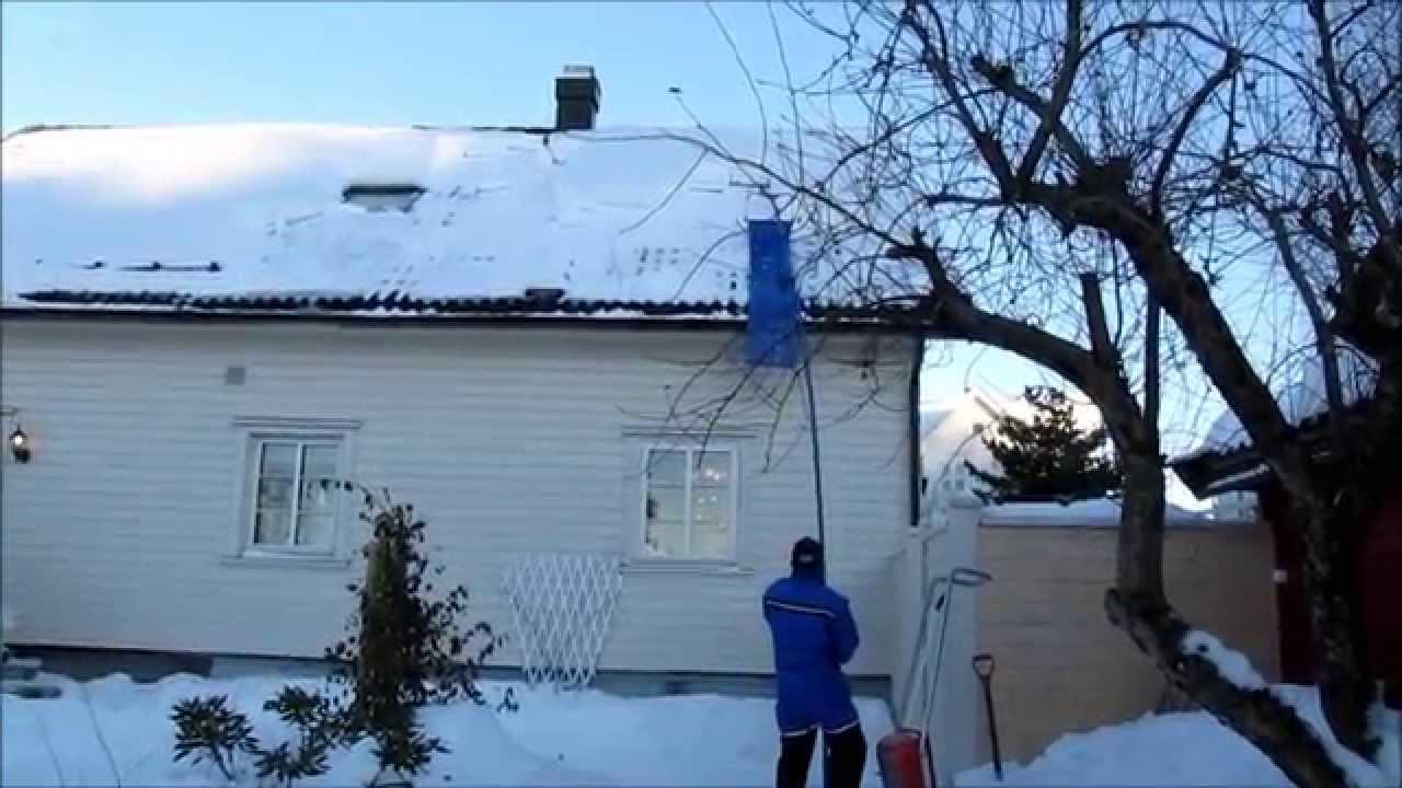 Nya Avalanche - snørydding av tak - YouTube HD-32