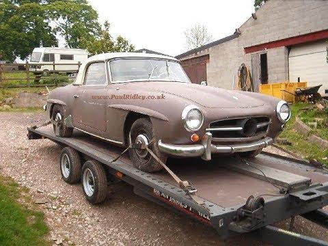 1963 mercedes 190 sl restoration project youtube. Black Bedroom Furniture Sets. Home Design Ideas