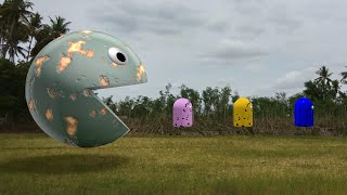 Pacman Battle In Real World - 4K