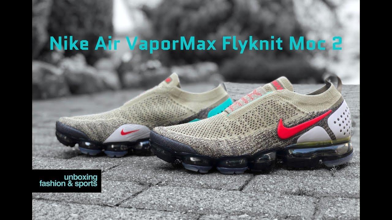 e8c8c9ed91 Nike Vapormax FK MOC 2 'Olive/Dark Hazel/Habanero Red' | UNBOXING & ON FEET  | fashion shoes | 4K