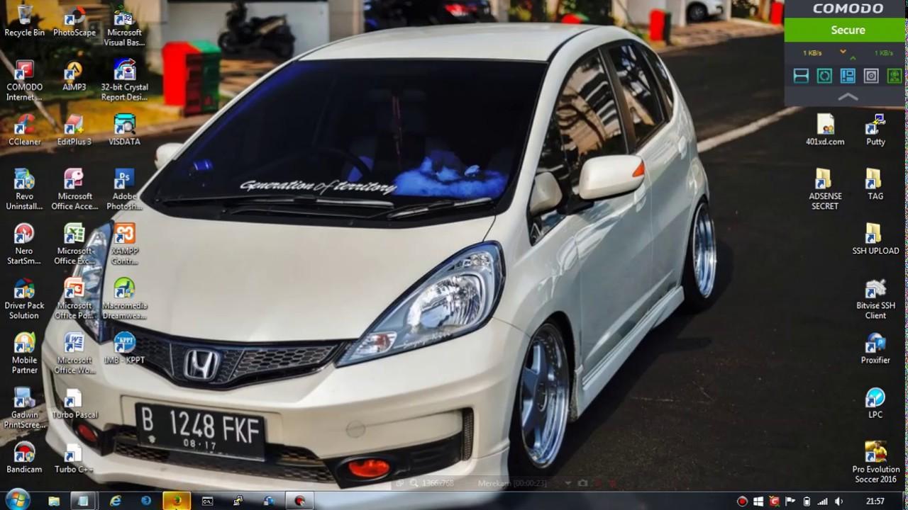 Honda Jazz Putih Modifikasi