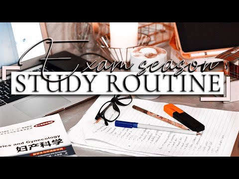 My EXAM SEASON STUDY ROUTINE | Waking Up Before 5 AM To Study | TheStylishMed