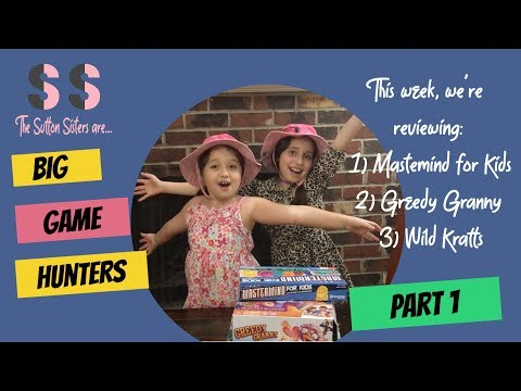 The Sutton Sisters as Game Hunters-Goliath Games Review Part 1