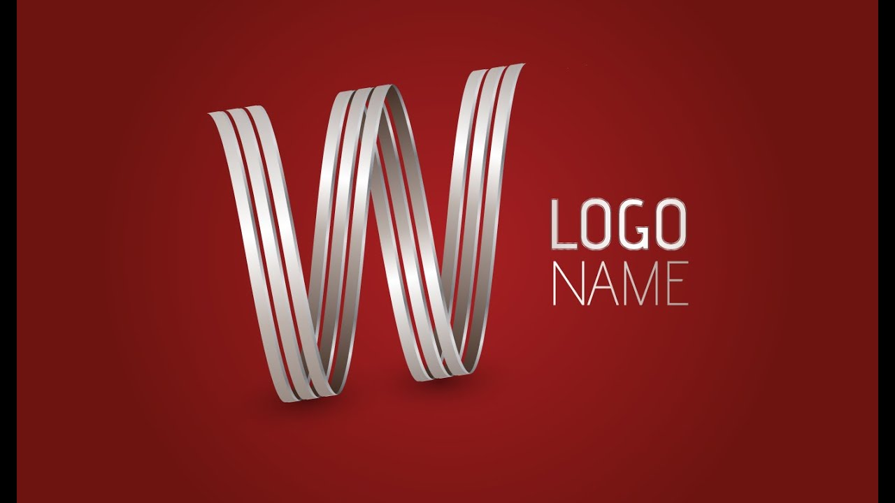 Adobe Illustrator Cc  D Logo Design Tutorial Letter W  Youtube