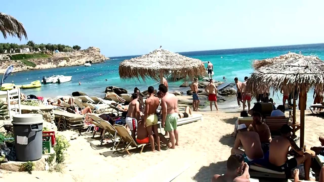 Mykonos Cafe Paraga   Beach-Bar - YouTube