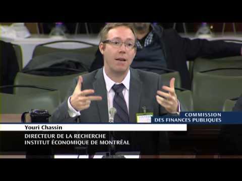 IEDM - Commission parlementaire sur les finances publiques - Youri Chassin et Jasmin Guénette