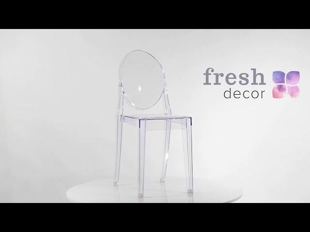 Видео обзор стул Каспер Хост из прозрачного поликарбоната