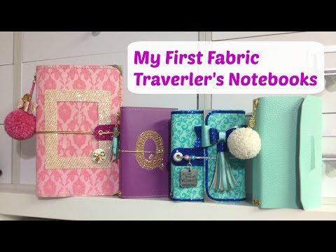 My first Fabric Traveler's Notebooks
