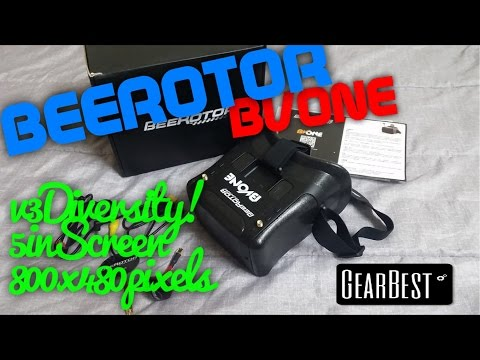 BeeRotor BVone FPV Goggles -Review & DIY DVR install Guide