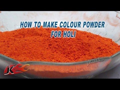 DIY How To Make Colour Powder For Holi - JK Arts 170