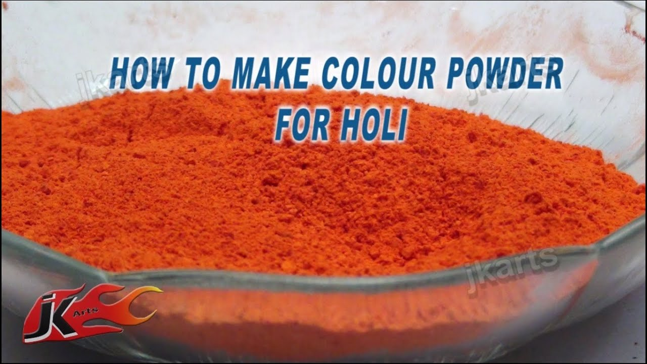 Paints Holi do it yourself: ways of making at home 97
