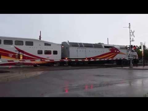 Rail Runner Express arriving in Santa Fe