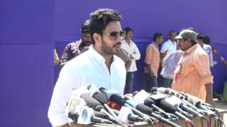 Actor Bharath let the best person win.. Lets not Fight