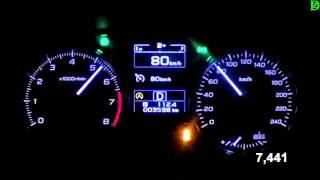Subaru XV 2016 - Acceleration 0-100 km/h (Racelogic)