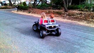 Power Wheels Jeep Hurricane back rolling burnout