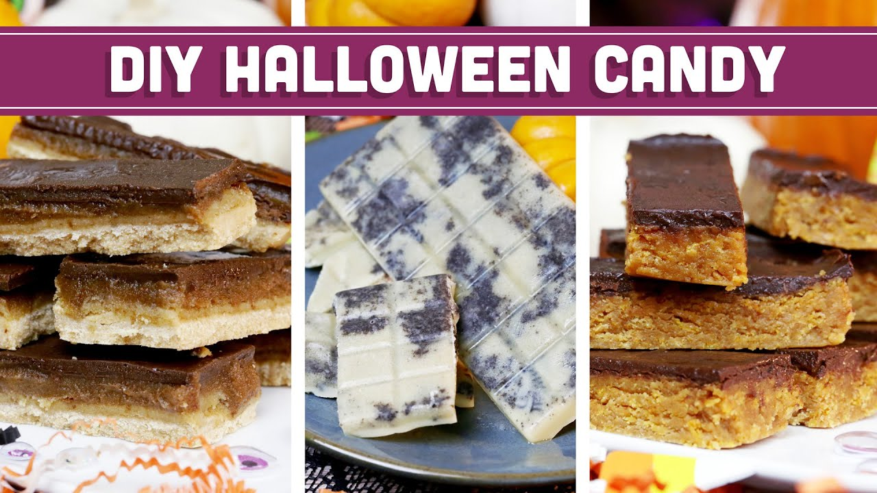 diy halloween candy - clean & vegan recipes! butterfinger, twix
