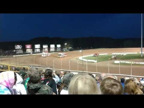 Firetrucks race at Lernerville Speedway
