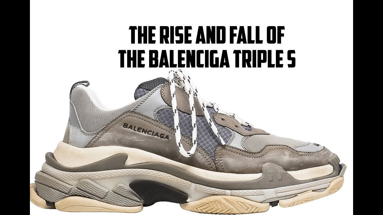 Milímetro verdad Hula hoop  Outlet Prices: Rise And Fall Of The Balenciaga Triple S - YouTube