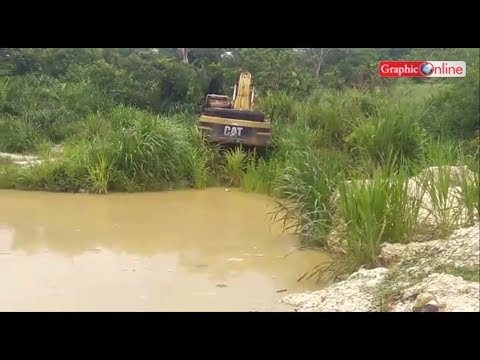 Effects of galamsey activities at Asupra, near Wamfie in the Dormaa East District
