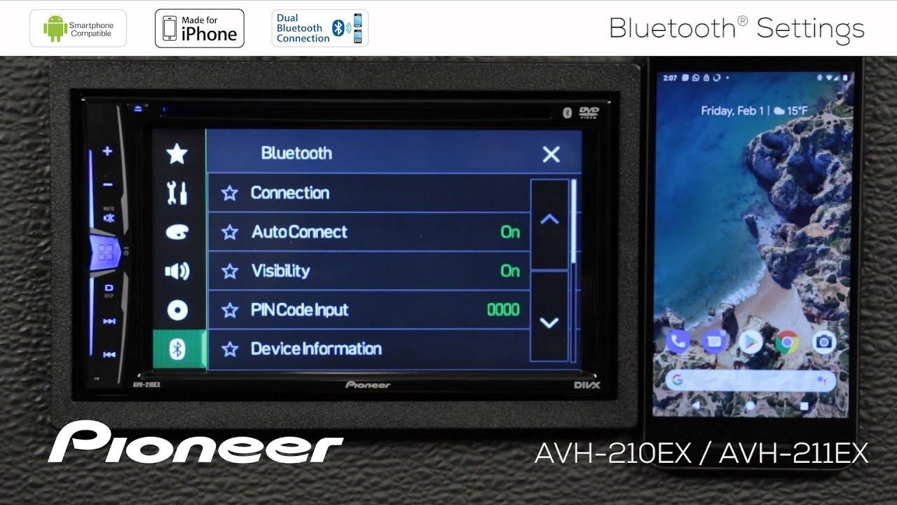 How To - AVH-210EX - Bluetooth Settings